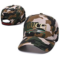 GUCCI Summer Newest Fashion Women Men Camouflage Sports Sun Hat Baseball Cap Hat