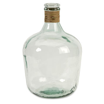 Medium Recylced Glass Jug Bottle Demijon | Free Shipping
