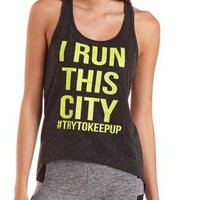 Run This City Graphic Tank Top by Charlotte Russe