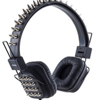 Various Punk - Mix Style Black Punk Headphones with Spikes Accessories