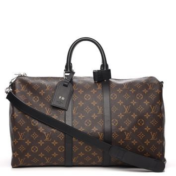 LOUIS VUITTON Monogram Macassar Keepall Bandouliere 45