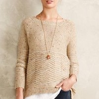 Shimmered Chevron Pullover by La Fee Verte Sand