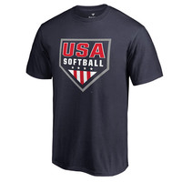 Fanatics Branded USA Softball Navy Primary Logo T-Shirt