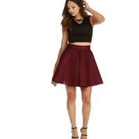 Burgundy Ultra Mesh A-line Skirt
