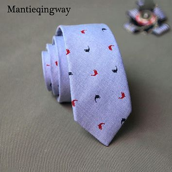 Men Floral Cotton Tie Wedding Bow Tie Collar Skinny Fashion Casual Flower Slim Gravatas Printed Tie For Men