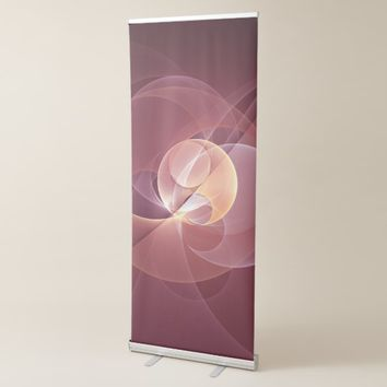 Movement Abstract Modern Wine Red Pink Fractal Art Retractable Banner
