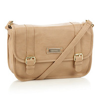 Cream flapover cross body bag at debenhams.com