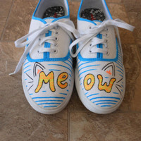 Cat shoes by PaintItBetter on Etsy