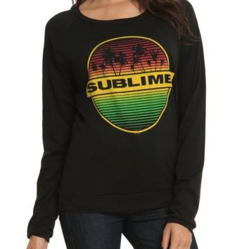 Sublime PALM TREES Girls Long Sleeve Top T-Shirt NWT Licensed & Official