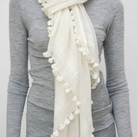 Beklina : Skin & Threads Pom Pom Scarves [Skin & Threads Scarves] - $180.00