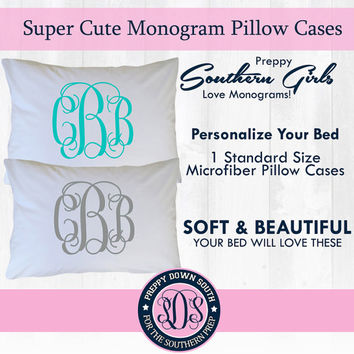 Monogram Pillow Case (Solid Monogram Color)