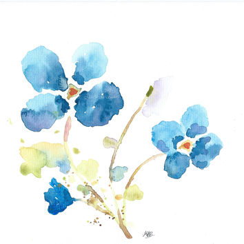 Original Watercolor Flower Painting