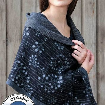 Organic Cotton and Cashmere Shawl and Cape