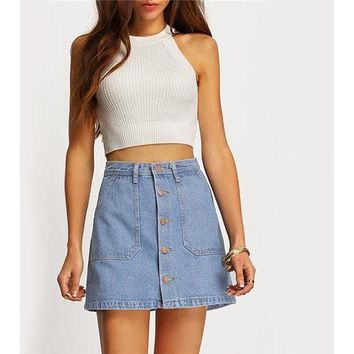 Zella Denim Skirt