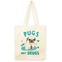 Pugs Not Drugs Tote Bag | LA LA LAND