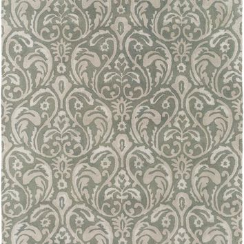 Surya Sanderson Medallions and Damask Green SND-4537 Area Rug