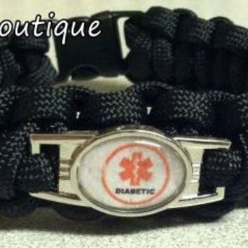 Medical Alert Paracord Survival Bracelets - Custom made with 550 Paracord