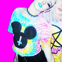 TIE DYE MOUSE CLUB CROP TOP — NIKKI LIPSTICK