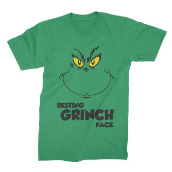 Resting Grinch Face Shirt Grinch Christmas T-Shirt Grinch Please Tee Funny Grinch Clothing