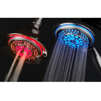 Temperature Sensitive LED Combination Showerheads