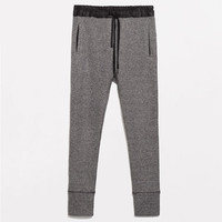 GREY VELOUR TROUSERS