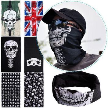 ac PEAPO2Q Hot Punk New 3 in1 Men Women Unisex Skull Hat Neck Warmer Tube Snood Face Mask Cap bonnet Scarf Beanie Balaclava Halloween Cheap