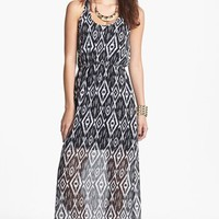 dee elle Racerback Print Maxi Dress (Juniors) | Nordstrom