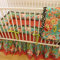 Crib Bedding MADE TO ORDER Bliss Bouquet Baby Bedding