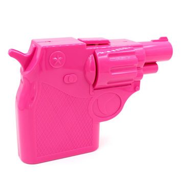 Pink Gun Shape Chain Cltuch Bag