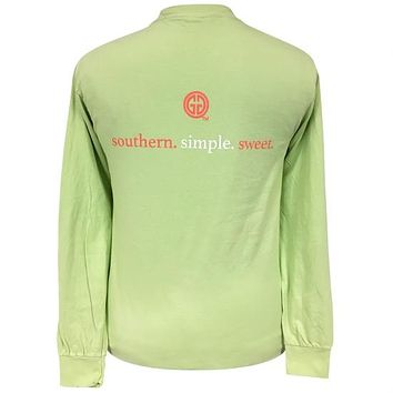 Girlie Girl Preppy Southern Simple Sweet Comfort Colors Kiwi Long Sleeve T-Shirt