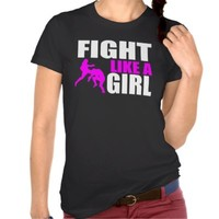 Fight Like a Girl - Ladies MMA/ BJJ/ Kickboxing T