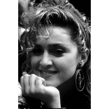 Madonna poster Metal Sign Wall Art 8in x 12in Black and White