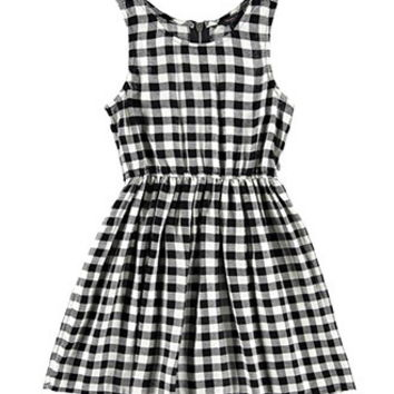 Gingham Plaid Dress (Kids)