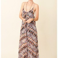 Blu Moon - U Back Babydoll Maxi Dress