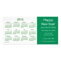 2015 Business Calendar by Janz Happy New Year Card