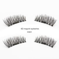 Genailish 6D Magnetic Eyelashes False Eyelashes Natural Long Eyelashes Full Strip Magnet Lashes Hand Made Fake Eyelashes KS01