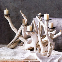 Driftwood Candelabra | Rain Collection