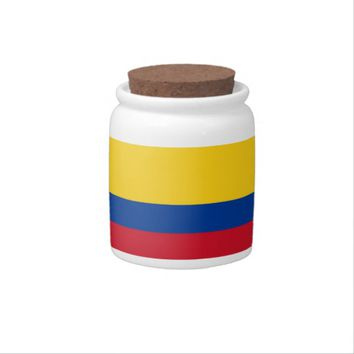 Colombian Flag Candy Jar