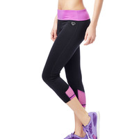 LLD Mesh Inset Crop Leggings