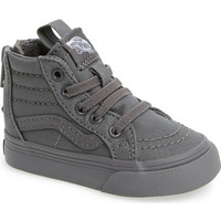 'Sk8 - Hi' Zip Sneaker (Baby, Walker, Toddler, Little Kid & Big Kid)