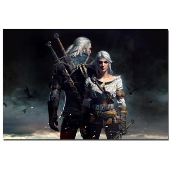 The Witcher 3: Wild Hunt Poster Canvas Art Print for Home Decor HD Picture Wall Art Poster