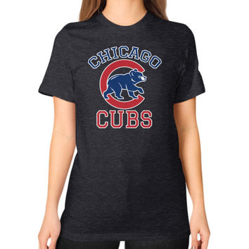 Cubs Baseball Team Chicago Allsex, Chicago cubs world series Unisex T-Shirt (on woman)
