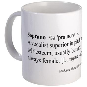 HUMOROUS SOPRANO DEFINITION MUG