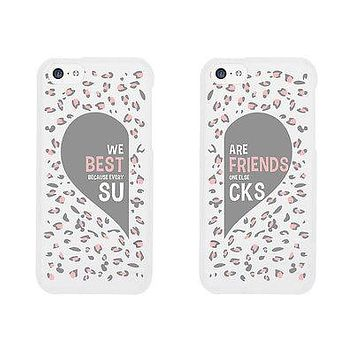 Leopard Pattern Cute BFF Mathing Phone Cases For Best Friends Gift