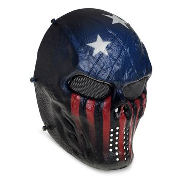 Airsoft Paintball Tactical Full Face Protection Skull Mask Skeleton Outdoor Arm Captain Stars Paint Ball M06 Accessories