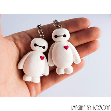 Baymax Keychain Necklace Big Hero 6// Llavero o colgante