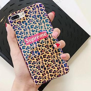 Supreme Stylish Leopard Print All-Inclusive Mobile Phone Case For iphone 6 6s 6plus 6s-plus 7 7plus iPhone8 iPhone X +Soft Shell I12918-1