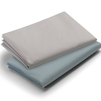 Graco Pack 'n Play 2 Piece Playard Waterproof Sheets, Teal/Grey