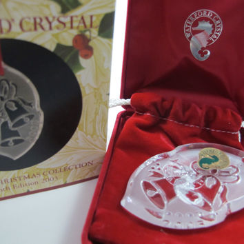 2003 Waterford glass songs of Christmas ornament decoration collection