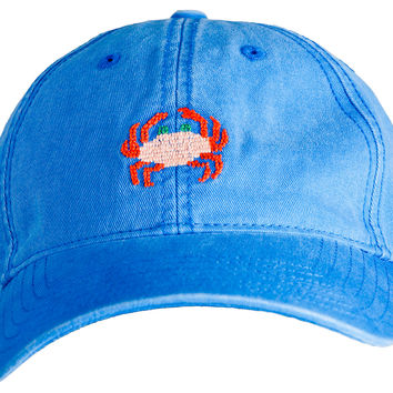 Rock Crab Needlepoint Hat, Cobalt, Hats